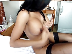thai ladyboy blow me in sexy lingerie by MFL