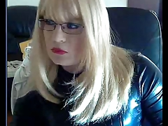 Blond Mistress playing on webcam