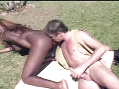 White chap tastes black tranny butt outdoor