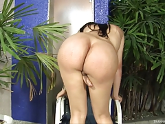 Yummy Shemale Bruna Shows Her Sexy Cock