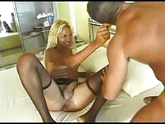Nice Black Tranny Cums!!!- by TLH