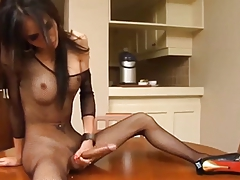 Big Cock Skinny Ladyboy Gets Masturbation