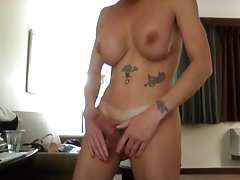 Big tits Shemale Play and Talk dirty