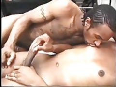 sexy ebony shemale gets fuck bareback by a musclar black guy