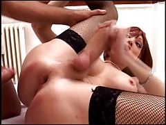 Shemales Marianna and Ivana fucked by two friends