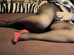 Horny Black Stockings