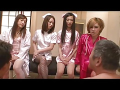 Dominant japanese shemale nurses