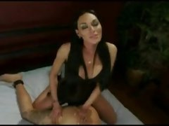 Dominant tranny with girl & guy