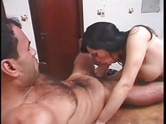 Papa - Tranny fucked on the table
