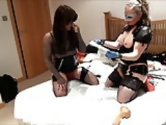 Hot tgirl slut has ass ruined by fisting and dildo toys