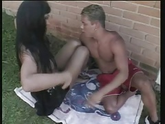 Real Tranny from Brazil cum's outdoor
