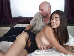 Hot scene with a beautiful shemale cougar