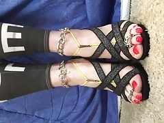 Shayna's Strappy High Heels