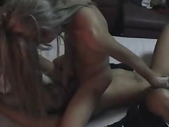 two Asian shemales fuck hard