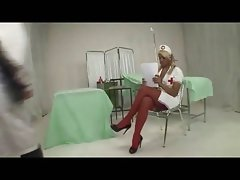 Blonde Shemale Nurse and Doctor fuck each other
